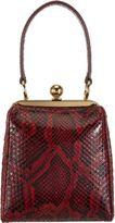 Dolce & Gabbana Python Framed Handle Bag