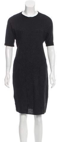 Saint Laurent Wool-Blend Jacquard Dress w/ Tags