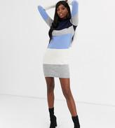 Brave Soul Tall marlo block stripe sweater dress
