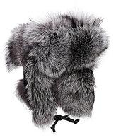 Crown Cap Men's Fur & Leather Aviator Hat-BLACK