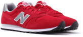 New Balance Classic 373 Crimson Red Suede Trainers