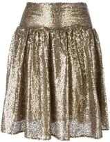 MICHAEL Michael Kors metallic sequin pleated skirt - women - Nylon/Polyester - 0