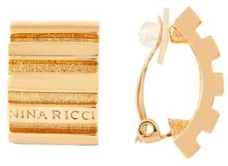 Susan Caplan Vintage 1980s Vintage Nina Ricci Statement Gold Hoop Clip-on Earrings