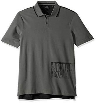 Armani Exchange A|X Men's Graphic Print Polo Shirt