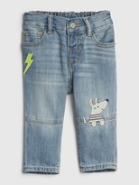 Gap Baby Dog Applique Straight Jeans