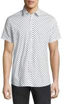 J. Lindeberg Allover Polka Dot Printed Button-Down Shirt