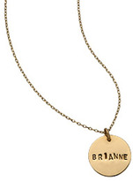 14k Gold Disc Necklace with Chain