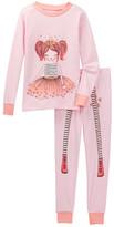 Petit Lem Sketched Princess Long Sleeve Pajama Set (Toddler & Little Girls)