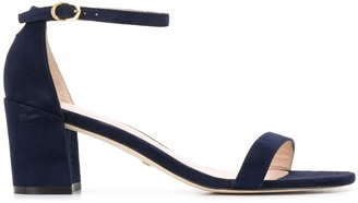 Stuart Weitzman Simple suede 65mm sandals