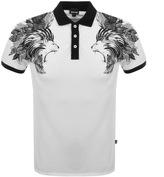 Just Cavalli Lion Polo T Shirt White