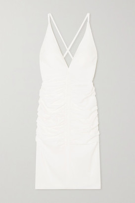 Tom Ford Ruched Jersey Dress - White