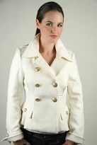 Double Breasted Wool Jacket in Winter White
