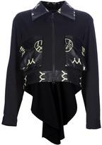 Yohji Yamamoto leather detail jacket