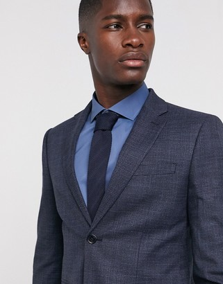 Moss Bros suit jacket in blue puppytooth