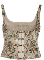 Brock Collection Berenice Floral Jacquard Bustier