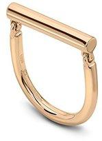 Roberto Marroni Marroni Design Movable Rounded 18 kt Polish Red Gold Bar Ring - Size L