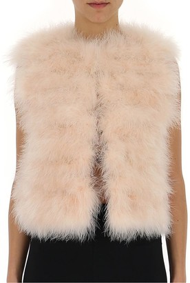 RED Valentino Fluffy Cropped Vest