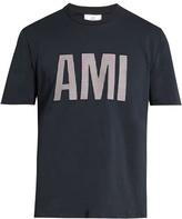 Ami Logo-appliqué cotton-jersey T-shirt