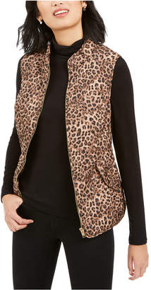 Charter Club Animal-Print Quilted Vest