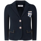 MonnaLisa MonnalisaNavy Stretch Fleece Dressage Jacket