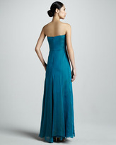 Nicole Miller Strapless Chiffon Gown