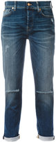 7 For All Mankind ripped boyfriend jeans - women - Cotton/Polyester/Spandex/Elastane - 26