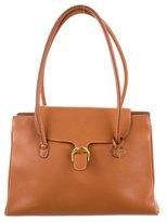 Delvaux Grained Leather Shoulder Bag