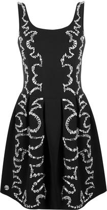 Philipp Plein Rhinestone-Embellished Cocktail Dress