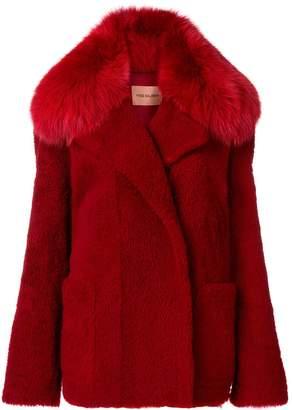 Yves Salomon fox fur coat