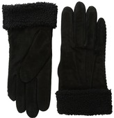 Lauren Ralph Lauren Suede & Shearling Thinsulate Gloves