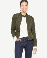 Ann Taylor Petite Quilted Moto Bomber