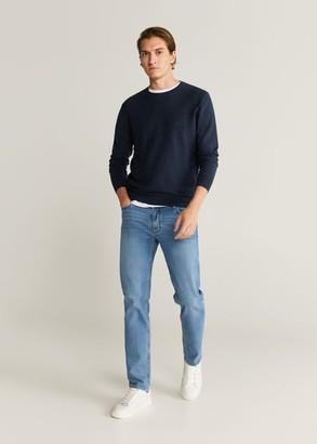 MANGO MAN - Cotton cashmere-blend sweater beige - S - Men