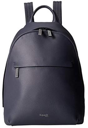 Lipault Paris Plume Elegance Round Backpack S (Navy) Backpack Bags