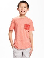 Old Navy Triblend Crew-Neck Pocket Tee for Boys