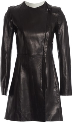 The Row Black Leather Coat for Women
