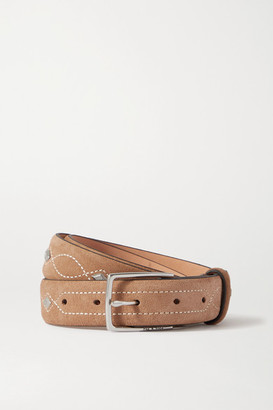 Rag & Bone South Dress Studded Suede Belt - Camel