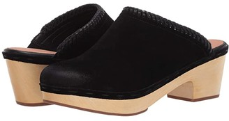 Frye AND CO. Odessa Braid Mule (Black Suede/Waxed Leather) Women's Clog/Mule Shoes