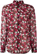 Saint Laurent Paris collar printed shirt - women - Silk - 40