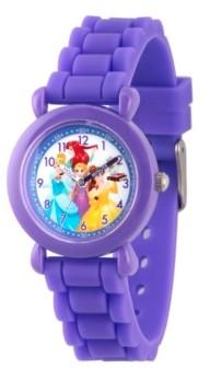 EWatchFactory Disney Princess Ariel, Belle, Rapunzel, Cinderella Girls' Purple Plastic Time Teacher Watch