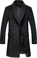 Oncefirst Men's Wool Blend Buttoned Top Coat 40-42