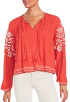 Tularosa Rose Embroidered Top