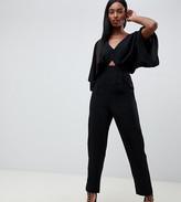 Asos DESIGN Tall jumpsuit with kimono sleeve and peg leg