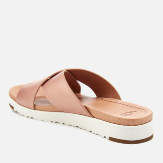 UGG Women's Kari Metallic Cross Strap Slide Sandals