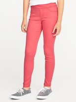 Old Navy Pop-Color Sateen Ballerina Pull-On Jeggings for Girls