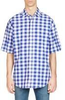 Acne Studios Albany Checkered Button-Down Shirt