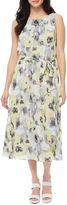 MSK Sleeveless Floral Fit & Flare Dress