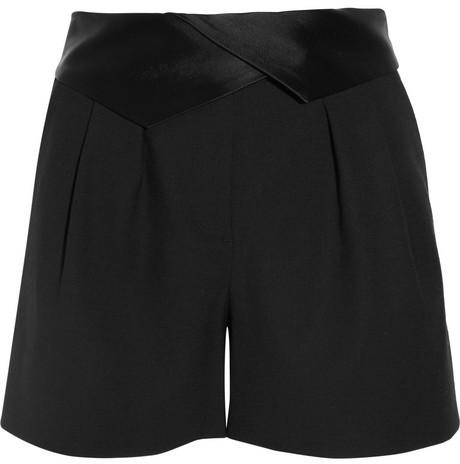 DKNY Stretch-wool tuxedo shorts