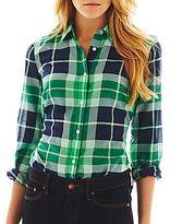 JCPenney jcpTM Long-Sleeve Silk-Blend Shirt