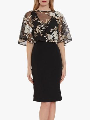 Gina Bacconi Coranne Sequin Cape Dress, Black