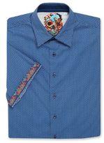 Robert Graham Big & Tall Printed Short Sleeve Sportshirt